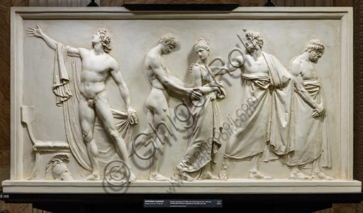 """""""Achille consegna Briseide agli araldi di Agamennone"""", 1787-90, di Antonio Canova (1757 - 1822), gesso."""