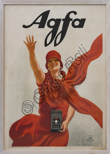 """""""Agfa"""", Illustration for the advertising poster by Marcello Dudovich,  chromolithography on paper."""