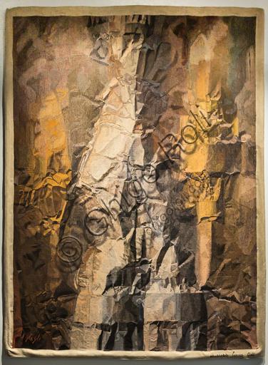 """Museo Novecento: """"Agostino"""", di Corrado Cagli, 1962. Arazzo in lana ad alto liccio."""