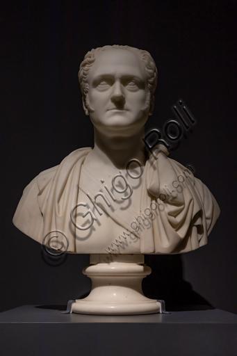 """""""Alessandro I"""", 1820, di Bertel Thorvaldsen (1770 - 1844), marmo."""