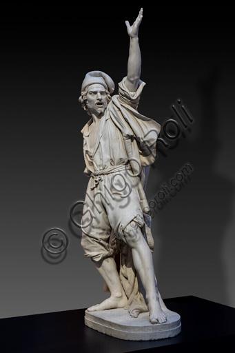 "Alessandro Puttinati: ""Masaniello"", marble sculpture, 1846."