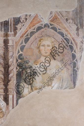 """""""Allegoria della Dialettica"""". Affreschi di Jacopo di Cione (fratello dell'Orcagna,1366-1406), su programma iconografico di Coluccio Salutati, conservato nel  Palazzo dell'Arte dei Giudici e Notai, o del Proconsolo a Firenze."""