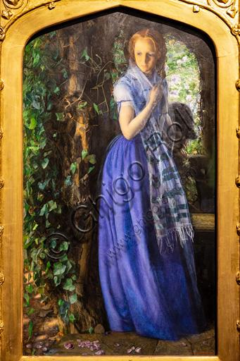 """""""April Love"""",  (1855-6), by Arthur Hughes (1832 - 1915); oil on canvas-"""