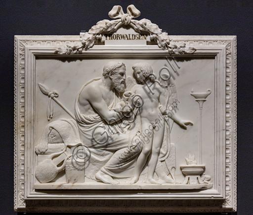 """Amore e Anacreonte"", 1824, di Bertel Thorvaldsen (1770 - 1844),  marmo."