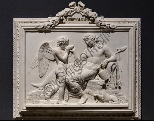 """Amore e Dioniso"", 1824, di Bertel Thorvaldsen (1770 - 1844),  marmo."