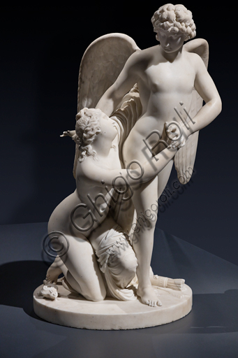 """Amore e Psiche"", 1795 - 1800, di Johan Tobias Sergel (1740 - 1814), marmo di Carrara."