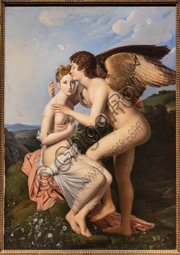 """Cupid and Psyche"", 1798, by  François Pascal Simon Gérard (1770-1837), oil on canvas."
