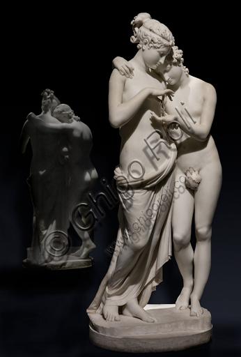 """""""Amore e Psiche"""", 1800-3, di Antonio Canova (1757 - 1822), marmo."""