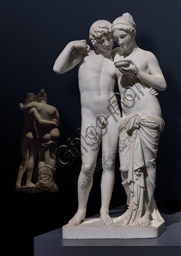 """Amore e Psiche"", 1861, di Bertel Thorvaldsen (1770 - 1844), eseguito da Georg Christian Freund, marmo di Carrara."