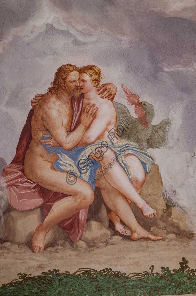 """Fanzolo, Villa Emo, the Io room: """"Love between Jupiter and Io"""". Fresco by Giovanni Battista Zelotti, about 1565."""