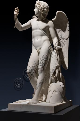 """""""Amore  trionfante"""", 1814-22, di Bertel Thorvaldsen (1770 - 1844),  marmo di Carrara."""