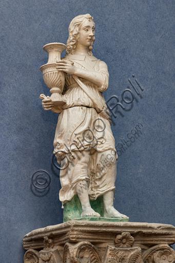 """Candelabra holder angel"", in the manner of Antonio Rossellino, glazed terracotta, early 16th century."