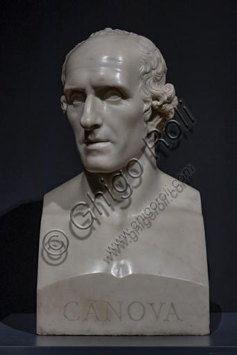 """""""Antonio Canova"""", 1809-10, di Gatano Matteo Monti (1776 - 1847), marmo."""
