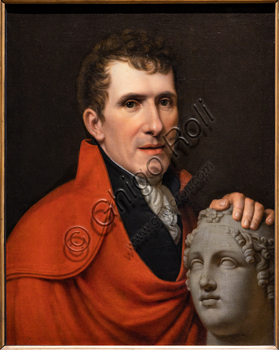 """Antonio Canova"", 1811, by Rudolph Suhrlandt (1781 - 1862), oil on canvas."