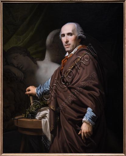 """""""Antonio Canova"""", 1822, di Giovanni Battista Lampi (1775 - 1837) , olio su tela."""