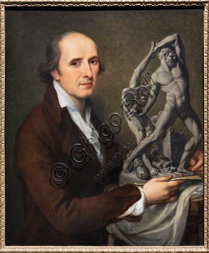 """""""Antonio Canova col modellino di Ercole e Lica"""", 1796 circa, di Angelika Kauffmann (1741 - 1807), olio su tela."""