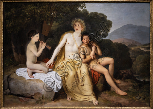"""Apollo, Hyacinthus and Cyparis"", 1834, by Aleksandr Andreevic Ivanov (1806 - 1858),  oil on canvas."