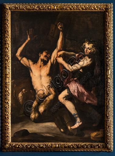 """Apollo skinning Marsyas"", by Luca Giordano, around 1678, oil painting on canvas."