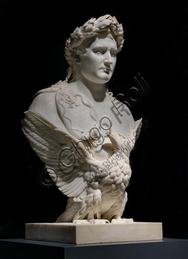 """""""Apoteosi di Napoleone"""", 1830, di Bertel Thorvaldsen (1770 - 1844), marmo."""