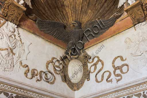 Mantua, Palazzo Te (Gonzaga's Summer residence): Camera delle Aquile (the Chamber of the Eagles) or Phaeton's Chamber (Federico Gonzaga's private room): detail with eagle.