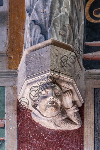 Montefalco, Museum of St. Francis, Church of St. Francis, the apse: architectural detail.
