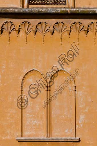 Palermo, The Royal Palace or Palazzo dei Normanni (Palace of the Normans), the South West side: architectural detail.