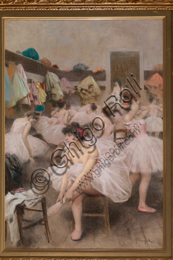 "Arnaldo Ferraguti, (1862-1925): ""Le ballerine""; pastello."