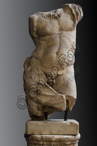 "Greek art: ""Torso of Silenus"", late 2nd century a.D., lunense marble."