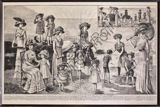 Articolo di giornale di moda (inizio Novecento).