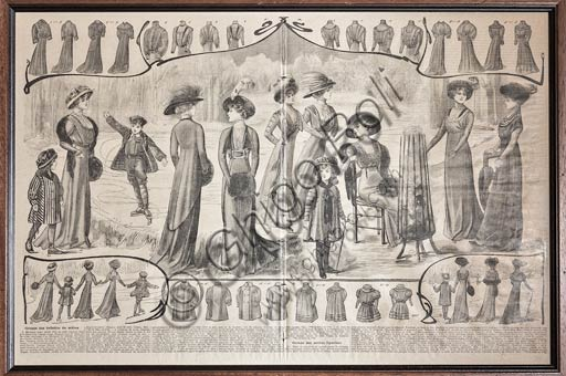 Article about fashion in a newspaper (beginning XX century).
