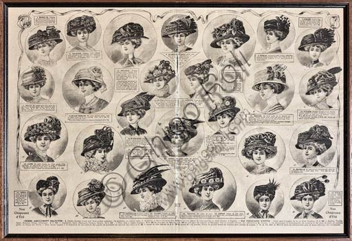 Articolo sui cappelli su giornale di inizio Novecento.