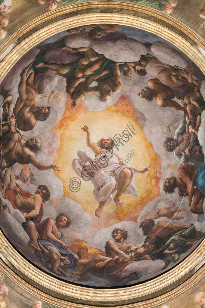 "Parma, Church of San Giovanni Evangelista, the dome: ""Ascension of Christ"", by Giovanni Allegri, known as Correggio (1520-22)."