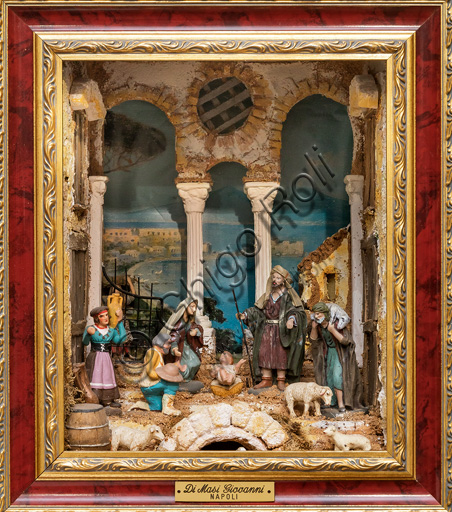 Assisi: Nativity scene on display.