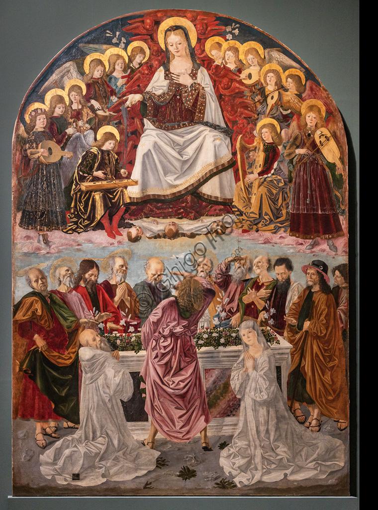 """""""Assumption of the Virgin with S. Benedict and St. Scholastica"""", 1473, by Piero d'Antonio Dei, known as Bartolomeo della Gatta (1448-1502) , tempera on canvas."""