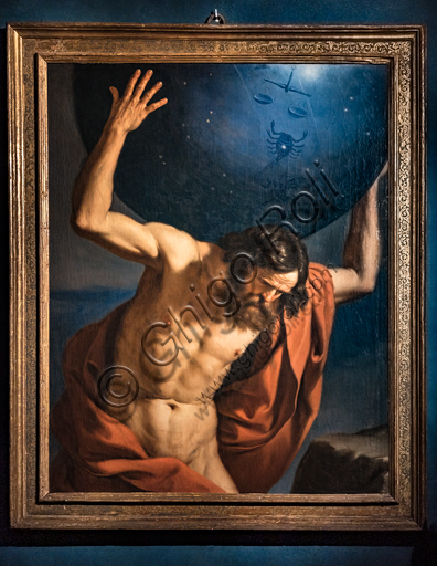 """""""Atlas"""", by Giovanni Francesco Barbieri known as Guercino, 1646, oil painting on canvas."""