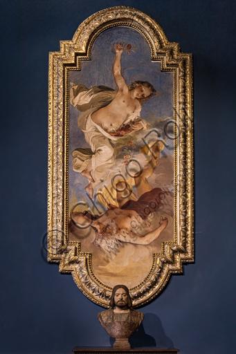 """Dawn (Aurora) and Tithonus"", by Giovanni Mannozzi known as Giovanni da San Giovanni, 1635, detached fresco."