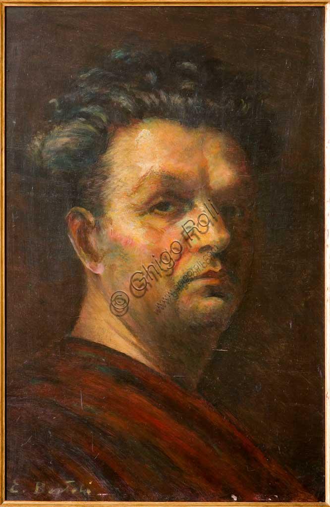 "Collezione Assicoop - Unipol: Elpidio Bertoli (1902-1982), ""Autoritratto"". Olio su tela, cm. 35,5x49."