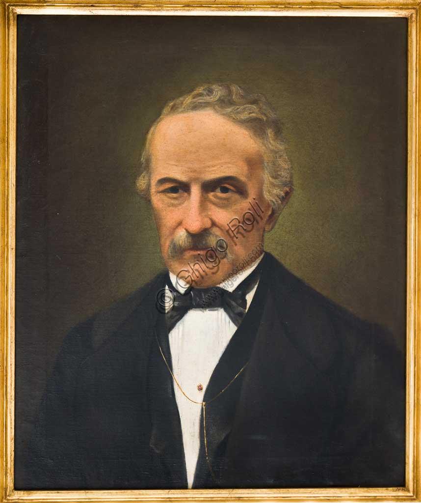 """Collezione Assicoop Unipol: Ferdinando Tarabini (1808-1885); """"Autoritratto""""; olio su tela."""