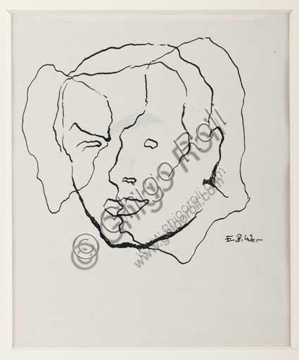 "Assicoop - Unipol Collection: Enrico Prampolini (1894 - 1956), ""Self Portrait""."