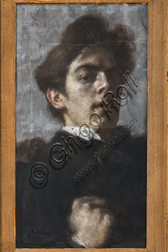 """""""Self Portrait"""", by Marcello Dudovich, 1895, pastel on paper."""