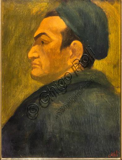 """Museo Novecento: """"Autoritratto"""", di Corrado Cagli, 1936 circa. Olio su tavola."""