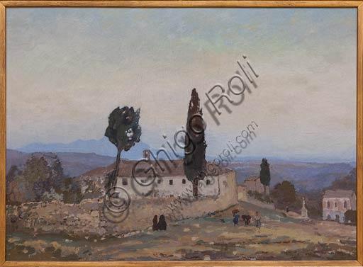 """Piacenza, Galleria Ricci Oddi:  """"Ave Maria a Guardiagrele"""" (1927), olio su tela di Michele Cascella (1892 - 1989)."""