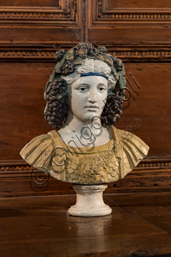 """""""Bacchus"""", by Giovanni Della Robbia's workshop, glazed terracotta, second half of the 15th century - early 16th century."""