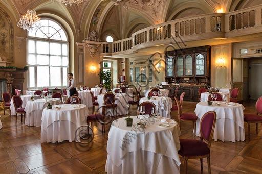 "Bormio, Spa,  the thermal baths ""Bagni Nuovi"", Grand Hotel:  the restaurant in the Ballroom."