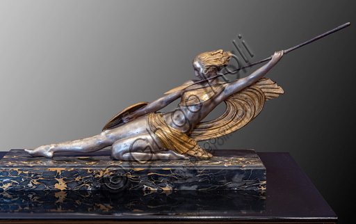 "Fontanellato, Labirinto della Masone, Franco Maria Ricci Art Collection: ""Dancer"", by Demetre Chiparus, bronze, and ivory  statue."
