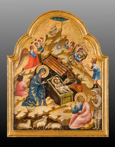 Belgrade, National Museum of Serbia: Paolo and/or Lorenzo Veneziano,  Nativity scene.