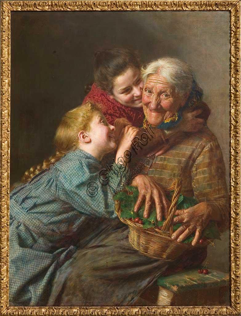 """Collezione Assicoop - Unipol: """"La benvenuta"""", 1882, olio su tela, di Gaetano Bellei (1857 - 1922)."""