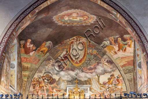 Bergamo, Città alta, Church of S. Michele al Pozzo Bianco: frescoes of the central chapel, probably by G. B. Guerinoni (1577).