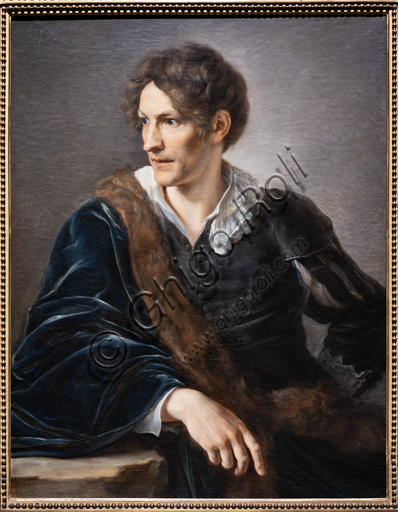 """Bertel Thorvaldsen"", 1808, by Vicenzo Camuccini (1771 - 1844), oil on canvas."