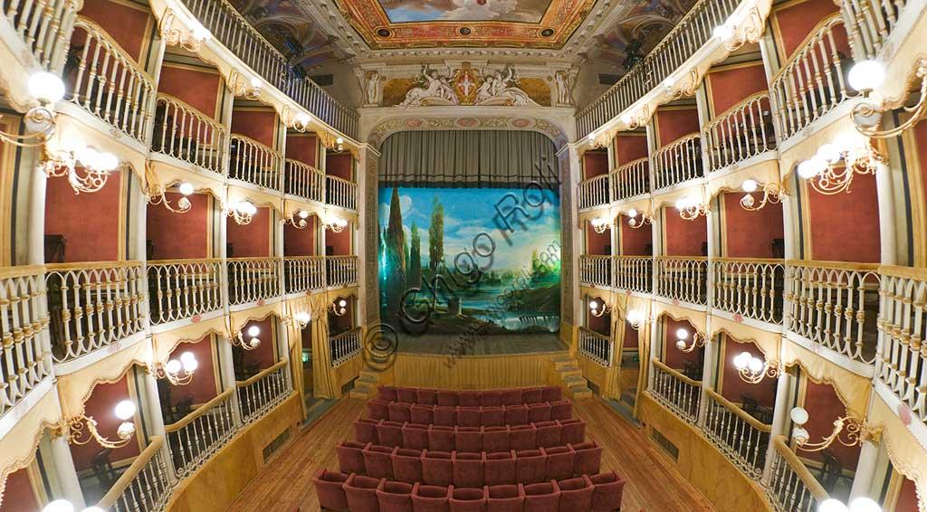 Bevagna: the Theatre Francesco Torti, which was realised in the Palazzo dei Consoli